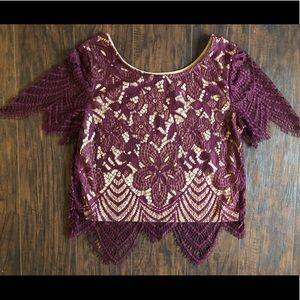 NEW Express Lace Crop Top
